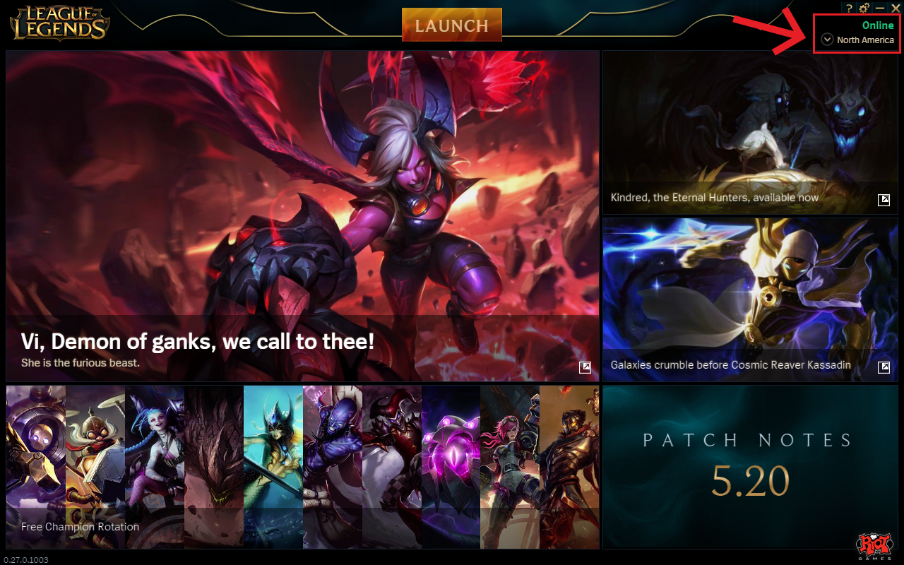 The game League of Legends is a guide