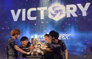 Team Ballistix celebrating after winning $60,000 each