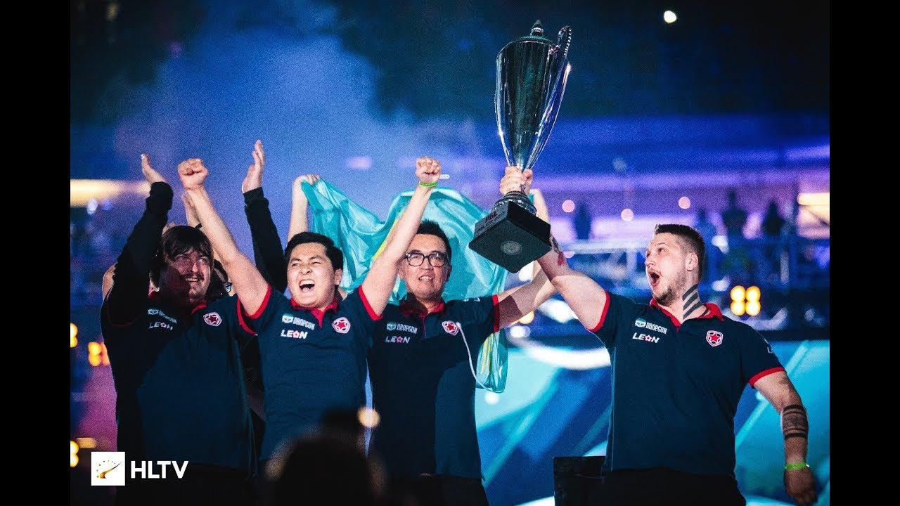 Team Gambit winning PGL Major Krakow 2017 event and $100,000 each