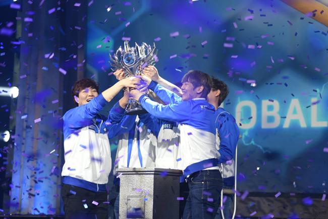 Team MVP.Black taking out HoTs Global Championship Grand Finals winning $100,000 each
