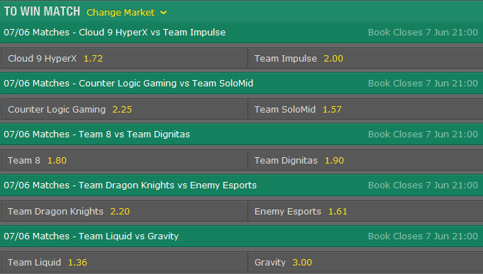 LCS-NA-Season-5-Summer-Split-Week-2-Day-2-Schedule-and-betting-odds-by-Bet365