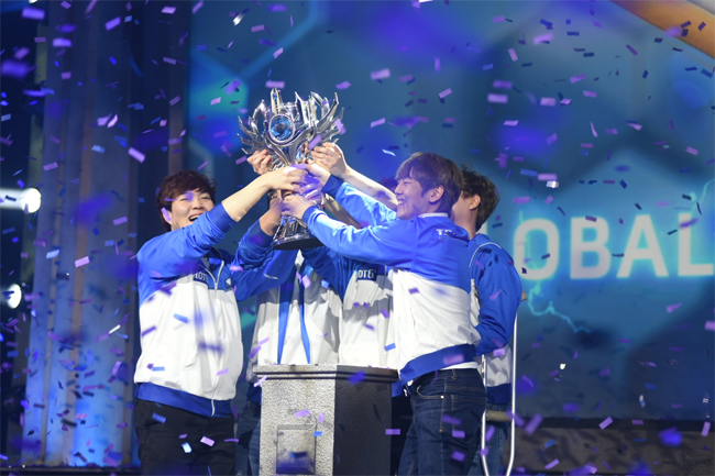 Team MVP.Black taking out HoTs Global Championship Grand Finals winning $100,000 each